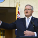 Australian Prime Minister Scott Morrison speaks to the media during a press conference at Parliament House in Canberra, Wednesday, March 18, 2020. (AAP Image/Lukas Coch) NO ARCHIVING